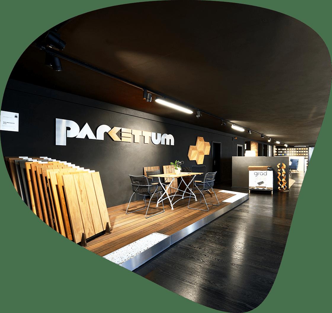 Parkettum-Ausstellungsraum